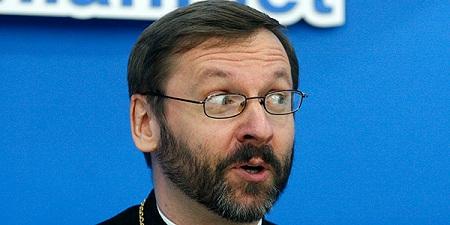 Глава украинских униатов-папистов просит Запад защитить Украину от России