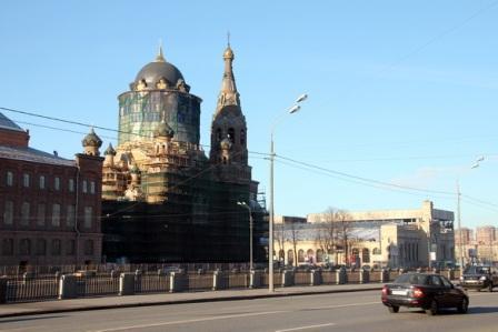 В Санкт-Петербурге отреставрирован купол «церкви с бутылочкой»